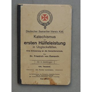 Catechism for first aid in accidents, German Samaritan Assn., Kiel