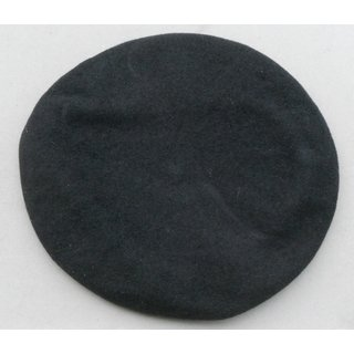Army Beret, Wool, black, General with Flash