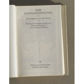 The Zupfgeigenhansl - Songbook of the Wandervogel