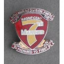 7th Marine Regiment 1st Marine Division  Unit Pin